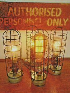 Industrial Bulkhead Lamp Light Vintage Retro Steampunk Desk Wall BedSide PATest