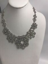 $248  Kate Spade Clear/Silver Crystal Lace Necklace S1B