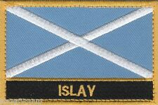 Islay Scotland Town & City Embroidered Sew on Patch Badge