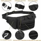 Tactical Concealed Holster Pistol Waist Pouch Carry Fanny Pack Holster Gun Bag