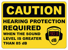 OSHA CAUTION: HEARING PROTECTION REQUIRED 85 dB | Adhesive Vinyl Sign Decal