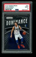 2019 Panini Prizm Dominance #20 Luka Doncic Mavericks PSA 9 MINT!