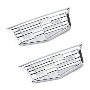 2x Silver Cadillac Car Fender Emblems for XT5 ATS XTS CTS SRX STS XLR SLS CT6