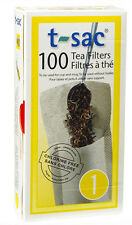 T-Sac Disposible Paper Loose Leaf Tea Filter Bags 100 Count / Size 1