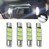 4x Car White HID 3SMD 31mm 6641 Fuse LED Bulb Vanity Mirror Light Sun Visor Lamp