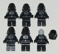LEGO LOT OF 6 BLACK STAR WARS STORM TROOPER MINIFIGURES PILOT FIGURES
