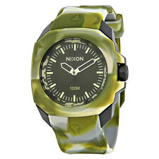 Nixon Ruckus Green Dial Mens Rubber Watch A3491727