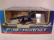 US Navy BLUE ANGELS F-18 HORNET Jet Plane Diecast 1:72 scale Motormax 9 inch
