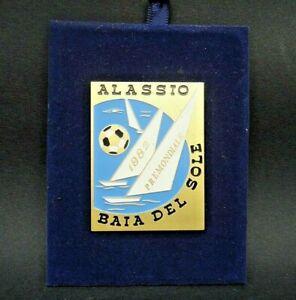 """TARGA CAMPIONATO DEL MONDO DI CALCIO """" ALASSIO BAIA DEL SOLE 1982 PREMONDIALE """""""