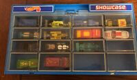 Vintage Mattel Hot Wheels 16 Car/Truck/Hotrod Display Showcase with 13 Cars