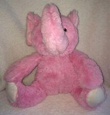 "Beansprout Baby Plush Pink Elephant 13"" Sewn Eyes Stuffed Animal Raised Trunk"