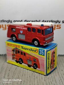 Matchbox Superfast No.35c AEC Merryweather Fire Engine MIB Vintage Diecast