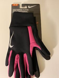Nike Thermal Run Gloves Unisex Medium Black/Vivid Pink/Silver
