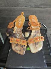 El Dantes rust color suede high heels sandals size 36 made in Spain