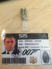 James Bond 007 Daniel Craig ID distintivo, FANCY DRESS, ADDIO AL CELIBATO FESTA. giornata Mondiale del Libro