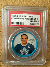 1962-63 George Armstrong #10 Shirriff Coin PSA 8