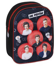 One Direction 1d Kids 3D School Nursery Backpack Rucksack Shoulder Bag Black Red