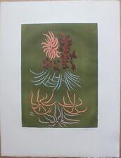 Gravure eau-forte de Jacques HEROLD signée numérotée 1974 fleurs surrealisme *