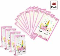 Magical Unicorn Party Favors Bags Supplies Set For Kids Themed Birthday Party
