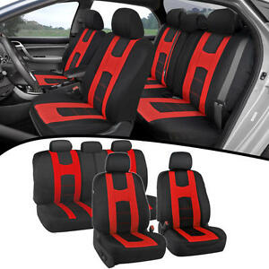 Car Seat Covers for Auto Red New Design Poly Pro Covers Snug Semi Custom Fit