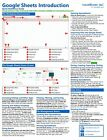 Google Sheets Training Guide Quick Reference Card 4 Page Cheat Sheet Help