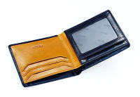 Ricco Mens RFID Blocking Slim Real Italian Leather Bifold Wallet Gift Boxed S14