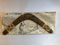 """Aboriginal Joe Timbery Boomerang 21"""" Standard Authentic W/ Papers New In Package"""