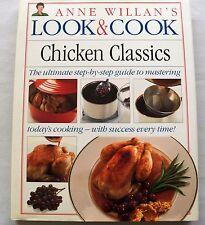 Anne Willan's Look & Cook Chicken Classics 1992 HC DJ  vintage