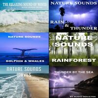 Sound Effects CD Water Bundle x6 CDS Thunder, Waves, Dolphins, Whales and Rain