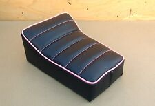 "50%OFF DEAL OF THE WEEK 10"" x 7"" BLACK/PINK MINI BIKE SEAT MONTGOMERY WARDS BIRD"