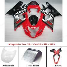Plastic Motorcycle Bodywork Body Kits For Suzuki GSXR600 750 2004-2005 Black Red