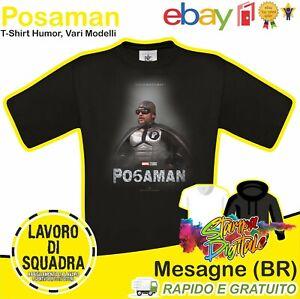 T-Shirt POSAMAN LOL LILLO SO LILLO Maglietta Frank Matano Fedez Humor Italy DTG