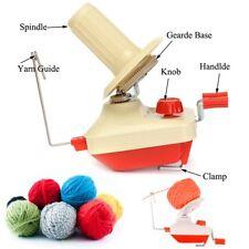 Hand Operated Yarn Fiber Wool String Thread Skein Ball Winder Holder Machine