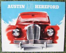AUSTIN A70 HEREFORD CAR SALES BROCHURE CIRCA 1950?
