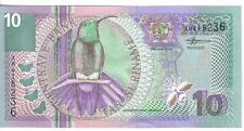 SURINAME, 10 GULDEN,Bird,  2000, UNC