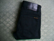 NUDIE TIGHT LONG JOHN BLACK BLACK JEANS SIZE 6