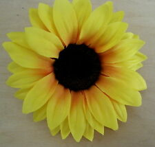 "Large 4 3/4"" Sunflower Silk Flower Hair Clip,Wedding,Prom,Dance,Luau,Beach Party"