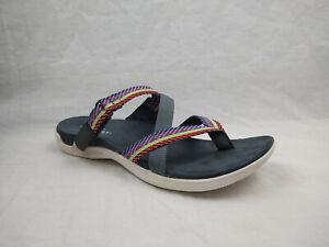 Merrell District Mendi Thong Turbulence Sports Slide Sandals Women's Size 8 M US