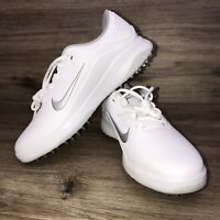 New Nike Vapor AQ2302-100 Golf Shoes Spikeless Mens Size 10 White/Silver  NWOB