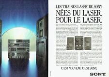 PUBLICITE ADVERTISING 037  1986  Sony  (2p) hi-fi  chaine lazer compact-disc