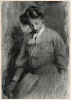 ROBERT DEMACHY, Portrait of a Young Lady, 1905 Tipped-in Halftone, Pictorialism