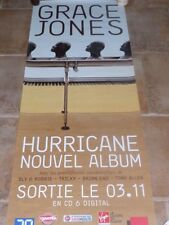 GRACE JONES - HURRICANE  !!!Affiche promo / French promo poster !!!!!!!!!