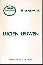 PEC - Stendhal - LUCIEN LEUWEN - Fiche de lecture