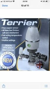New Peglar Terrier Thermostatic Radiator Valve With Lockshield and Drain Off