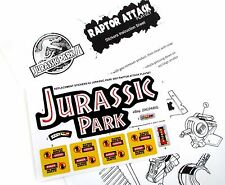 Replacement stickers for Kenner JURASSIC PARK Raptor Attack Playset Pre-cut!!