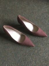 M&S Ladies Heeled Shoes In Brown Size 3.5