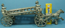 """1910 HOOK & LADDER CAST IRON TOY ORIGINAL & COMPLETE 8 3/4"""" * NOW ON SALE * T132"""