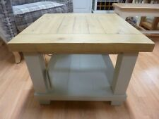 New Chunky Solid Reclaimed Wood Square Two Tier Coffee Table *Furniture Store*