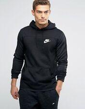 Men's Nike Sportswear Advance 15 Pullover Hoodie 812517 010 SIZE L Black White