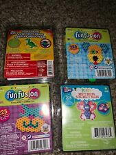 Lot of Perler Fun Fusion Beads 4 Kits,  Bag,  30 Molds  & letter Pegboard